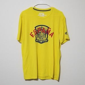 Adidas España Spain Yellow Soccer Climalite Shirt